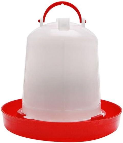 Gemini/_mall/® Plastique volaille Abreuvoir Mangeoire Poule caille Bantam Poulet Abreuvoir avec poign/ée 1.5L 1.5L rouge//blanc
