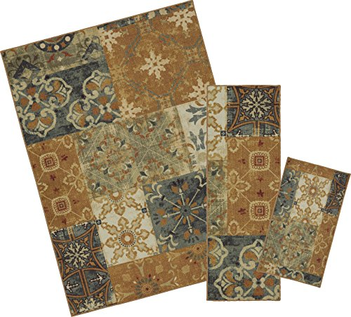 Mohawk Home Soho Harmonic Patch Multi Rug Set  Set Contains  18 X 30   20 X 60  And 60 X 84