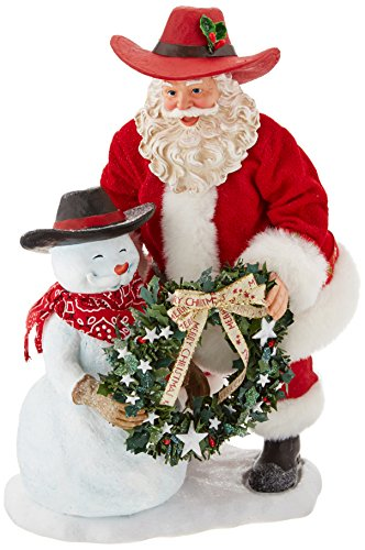 """Department 56 Possible Dreams Santa Claus """"Christmas On The Ranch"""" Clothtique Christmas -"""