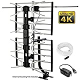 pingbingding HD TV Antenna Outdoor Antenna Digital Antenna Amplified Antenna 150 Mile Long