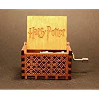 Vowmix Wooden Hedwig Theme Harry Potter Hand Cranked Collectable Engraved Music Box