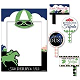 Kentucky Derby - Horse Race Party Selfie Photo Booth Picture Frame & Props - Printed on Sturdy Material