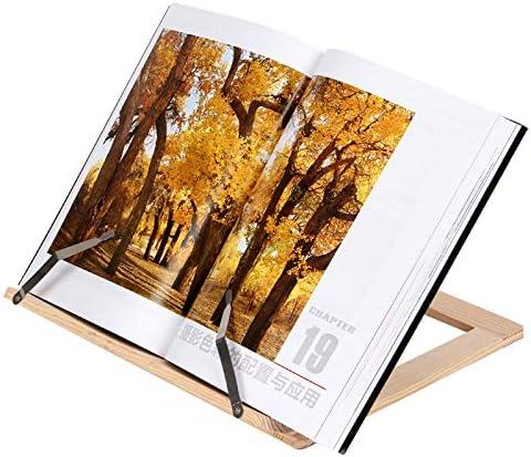 Porte-Livre de Lecture R/églable Repose Livre en Bois Stable Robuste et Durable HDL Support de Livre en Bambou