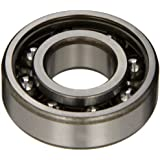 SKF Radial Bearing, Single Row, Deep Groove Design, ABEC 1 Precision, Open, C3 Clearance, Plastic Cage