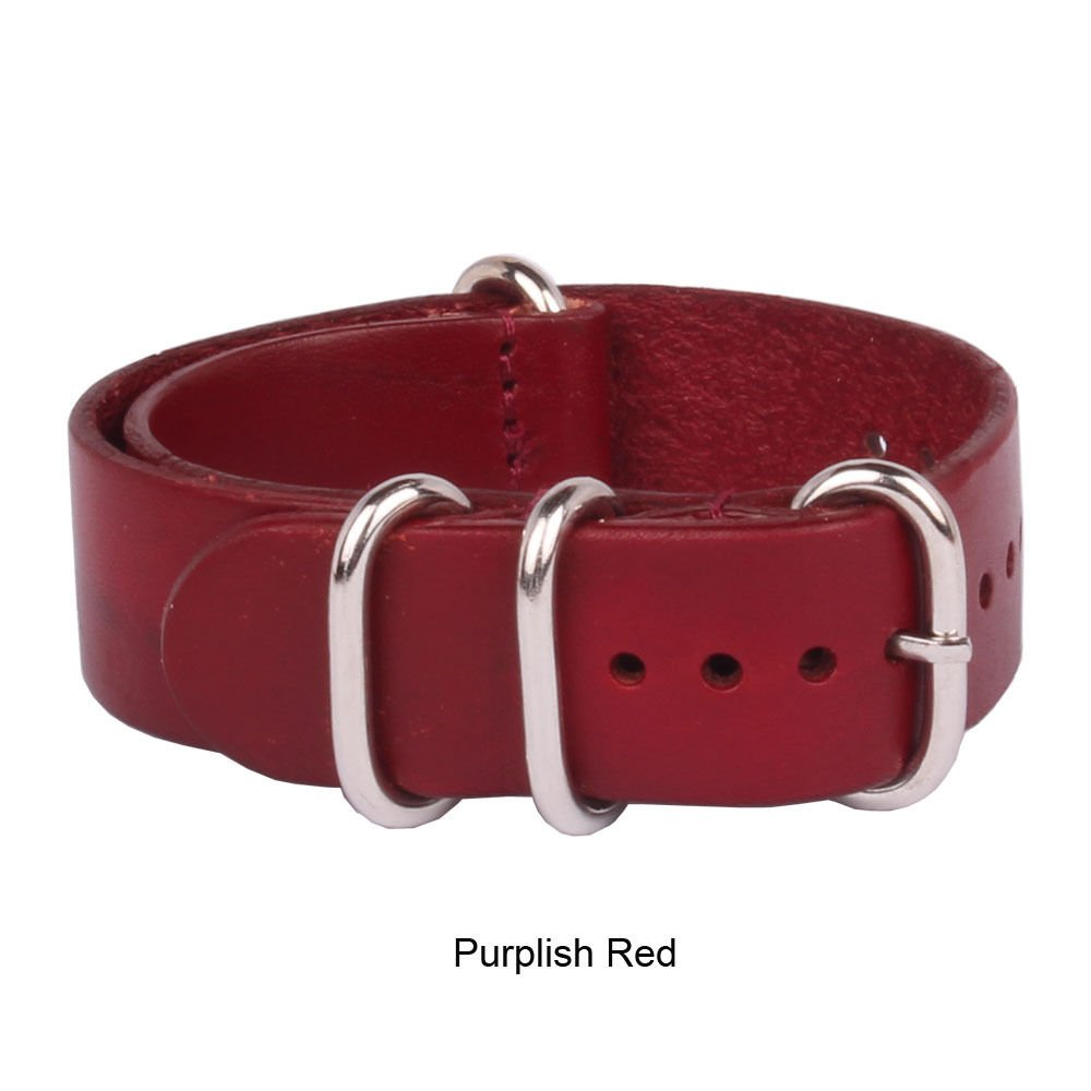 Purplish Red Watch本革バンドストラップ手首バンド20 mm B01IIC0LAA