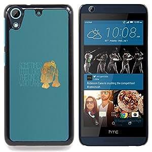 "Qstar Arte & diseño plástico duro Fundas Cover Cubre Hard Case Cover para HTC Desire 626 (Único que se preocupa - Funny R2 D2"")"