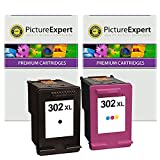 Picture Expert 302XL (F6U68AE / F6U67AE) Compatible Black and Colour High Capacity Ink Cartridges for HP Printers