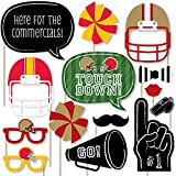 Big Dot of Happiness Super Football Bowl - Party Photo Booth Props Kit - 20 Count