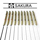 Sakura Pigma Micron & Graphic - Black Pigment Fineliners - Set of 10 - [0.05mm - 3.0mm]