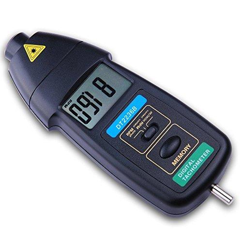 デジタルメーター デジタル回転計 接触タコメータ 3in1 LCD デジタルタコメーター 接触・非接触両用型 広い測定範囲 速度