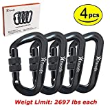 Favofit 12KN Heavy Duty Aluminium Carabiner Clips (Weight...