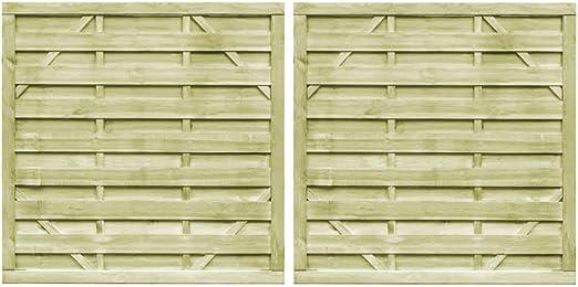 ghuanton Puertas Valla 2 uds Madera Pino impregnada FSC 150x150 cm verdeBricolaje Vallas de jardín Puertas de jardín: Amazon.es: Hogar