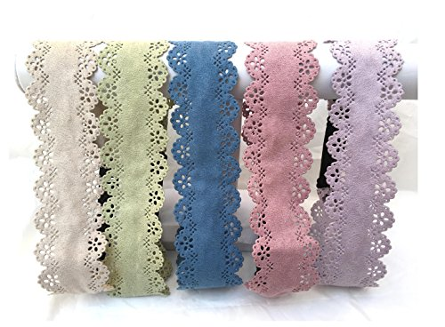 Ultrasuede laser cut Headband with adjustable elastic ( muted Pastels ) (Pink)