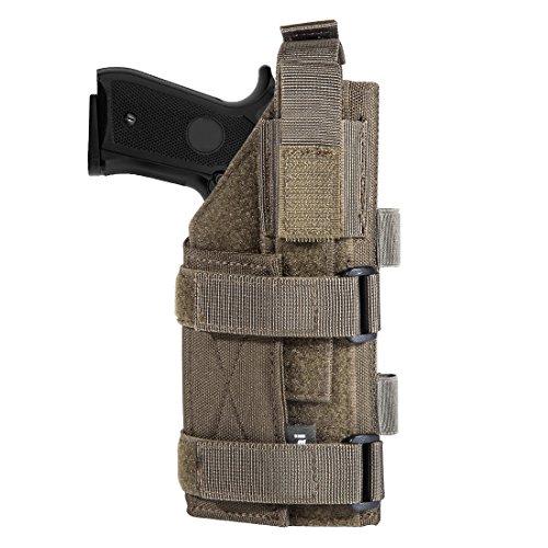 (JiePai Minimalist Pistol Holster,Nylon Adjustable Holster 1911 45 92 96 Glock(Ranger Green))