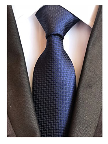 Navy Blue Gingham Seft Ties Woven Narrow Party Cool Italy Necktie 3.15