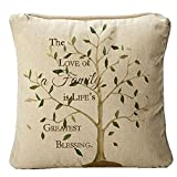 Love Of Family Blessing Tree Of Life 14 x 14 Fabric Decorative Throw Pillow