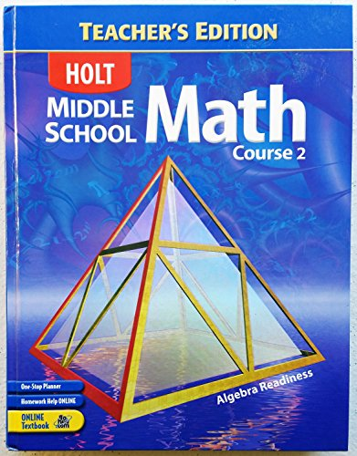 Homework And Practice Workbook Holt Middle School Math Course 3