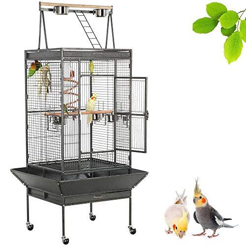 Yaheetech Parrot Bird Cage Playtop Cockatiel Cockatoo Birdcages