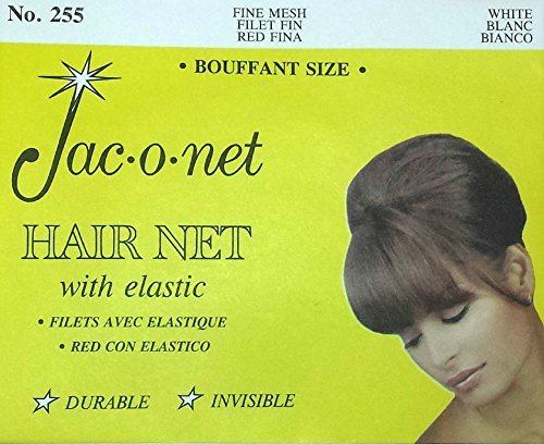 Jac-O-Net Tiny Mesh Hair Net--Bouffant/Large Size, Grey,1 Net Per Pack [Pack of 12]