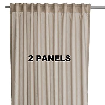 IKEA VIVAN Paire de rideaux, rideaux, 2 panneaux Beige Couleur par ...