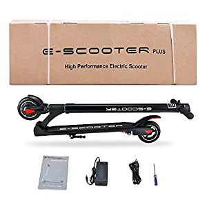 Electric Scooter, 15.5 Mph Speed 15.5 Miles Distance Range Folding ELectric Kick Scooters For Adult By KKA (Black)