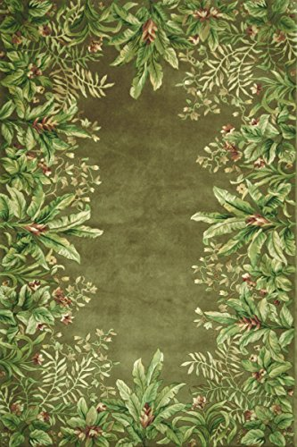 KAS Oriental Rugs Emerald Collection Tropical Border Area Rug, 2'6