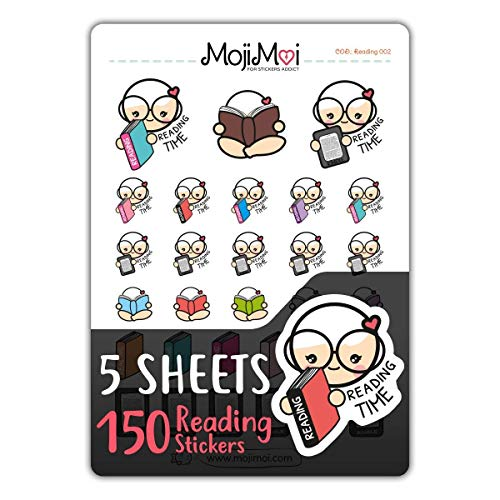 Reading 002-Theme Stickers for Life Planner, Functional Stickers, Happy Planner, Cute Stickers, kawaii Stickers, Eclp Stickers, Erin Condren Planner Stickers, Kikki Stickers, -