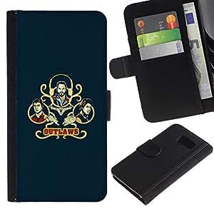 NEECELL GIFT forCITY // Billetera de cuero Caso Cubierta de protección Carcasa / Leather Wallet Case for Sony Xperia Z3 Compact // Outlaws