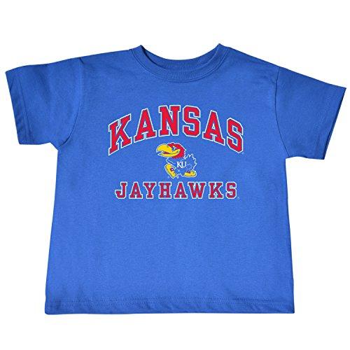 NCAA Kansas Jayhawks Toddler Short Sleeve Tee, 5/6 Toddler, Royal