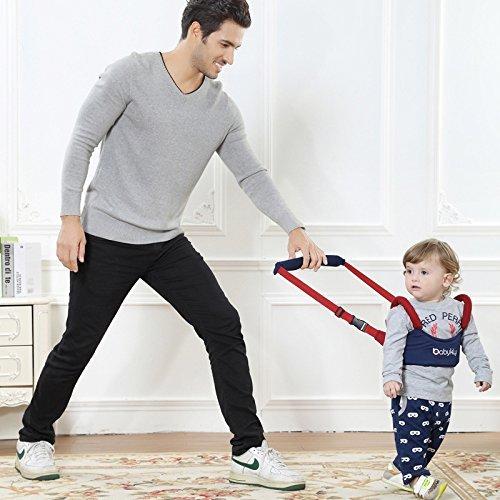 Handheld Bebé Walker, iceblueor seguro para caminar Asistente Helper Kid caminar Asistente arnés de Aprendizaje Niño Cinturón, seguro y no Tóxico, ...