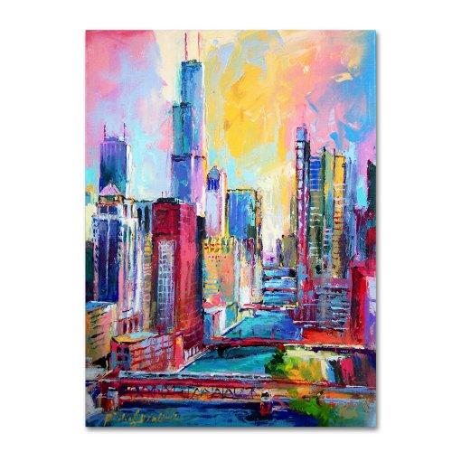 Chicago 3 by Richard Wallich, 24x32-Inch Canvas Wall Art - Iii Fine Art Canvas Print