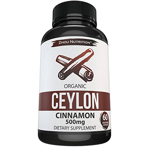 Ceylon Cinnamon Capsules - Designed to Support Blood Sugar, Heart Health and Joint Mobility - ' True Cinnamon...