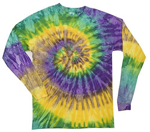 Colortone Tie Dye L/S SM Mardi Gras ()