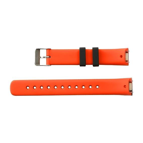 pulsera NONMON banda de repuesto de TPU resistente al agua - Negro / Naranja: Amazon.es: Deportes y aire libre