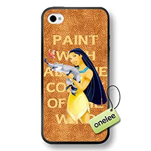 Disney Cartoon Movie Pocahontas Soft Rubber(TPU) Phone Case & Cover for iPhone 4/4s - Black wangjiang maoyi by lolosakes