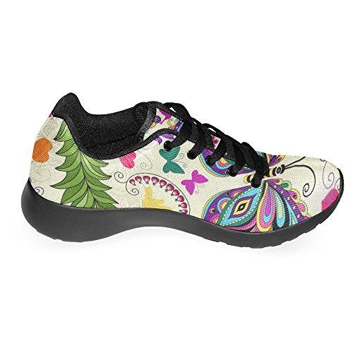 Interestprint Femmes Jogging Running Sneaker Léger Aller Facile À Pied Casual Confort Sport Chaussures De Course Pour Femmes Multi 43