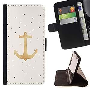 For Sony Xperia Z1 L39 Case , Pintura al óleo del arte de los puntos de anclaje del dibujo del arte- la tarjeta de Crédito Slots PU Funda de cuero Monedero caso cubierta de piel