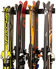 Ski Wall Storage Rack | Steel Home and Garage Skis Mount | StoreYourBoard