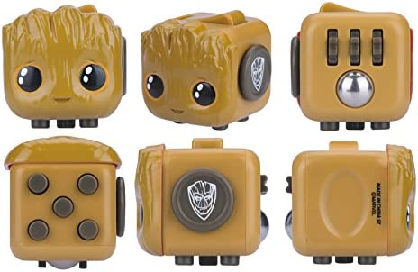 Baby Groot Marvel Character Fidget Cube Design Antsy Labs Six Functional Sides
