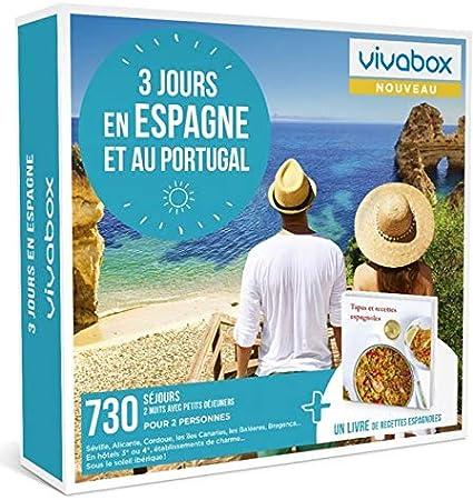 Vivabox – Caja de regalo para pareja, 3 días en España y en Portugal – 730 fines de semana + 1 libro de recetas: Amazon.es: Belleza