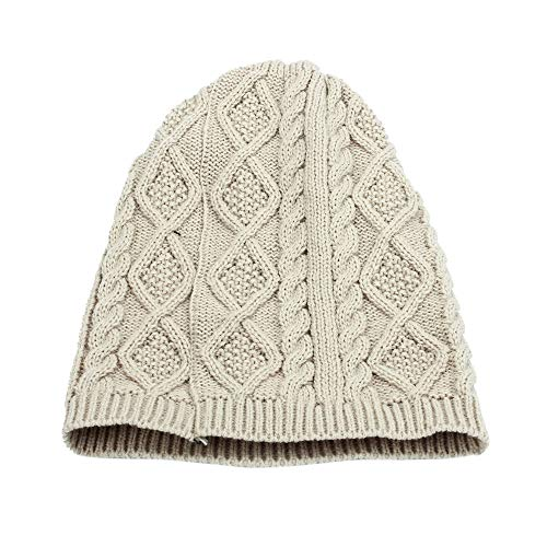 URIBAKE ❤ Women's Knitted Baggy Beanie Beret Winter Warm Oversized Ski Cap Hat Multi Colors ()