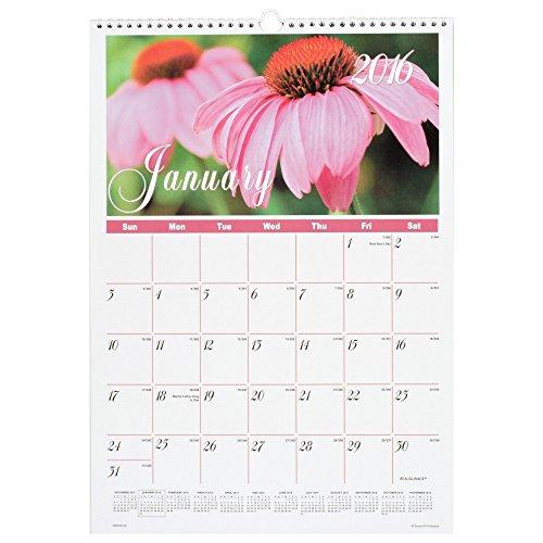 At a glance monthly wall calendar 2016 flower garden 12 for Gardening 2016 calendar