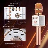 BONAOK Wireless Bluetooth Karaoke Microphone,3-in-1