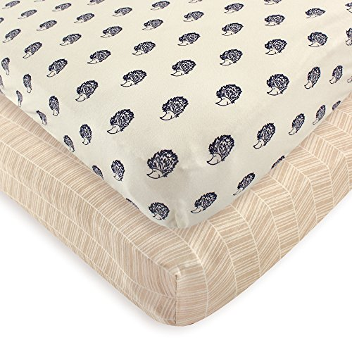 Organic Baby Sheets - Touched by Nature Organic Fitted Crib Sheets, 2 Pack