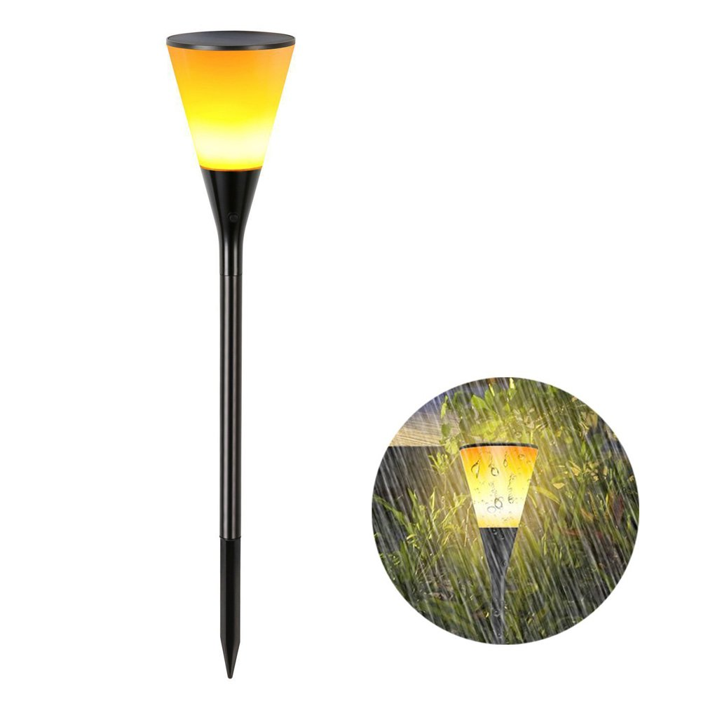 SEYEON Solar Torch Lights Waterproof LED Solar Garden Lights 3-in-1 Wireless Garden Flickering Flame Spotlight