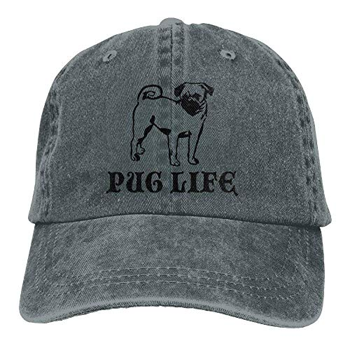 Life Walnut Mens Pug Denim Dog béisbol Baseball Hat Caps Gorras Dad Cake xSqqIZnwp7
