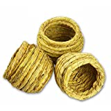 Guardians Bird Nest Pets Supplies 3.93X3.93 Inches Natural Straw Nests House For Small Birds Holland Rats Guinea Pigs, Set of 3