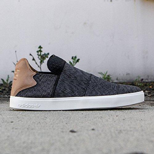 Adidas X Pharrell Williams Mens Vulc Slip-on Graniet
