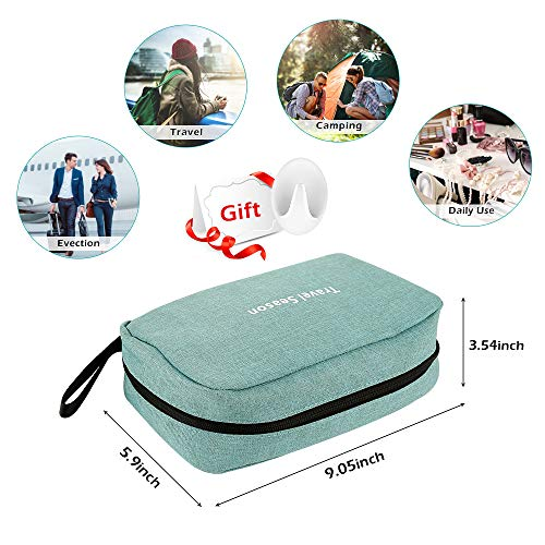 Travel Toiletry Bag, Hanging Toiletry Organizer Bag – Foldable Cosmetic Bag with Hook, Handle, Waterproof and Portable for Men Women