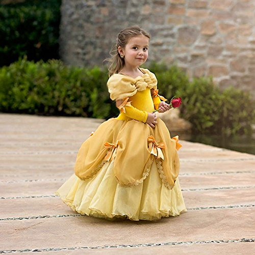 95e82a92fee6 CQDY-Belle-Costume-for-Girls-Yellow-Princess-Dress-Party-Christmas-Halloween -Cosplay-Dress-up-2-13-Years